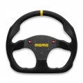 MOMO MOD 30 Steering Wheel With Horn Buttons, 320mm Suede, Flat Bottom With Slingshot Install Kit
